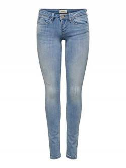 ONLY NOS Damen Onlcoral Sl Sk Bb Cre185063 Skinny Jeans, Blau Light Blue Denim, 36 /L32 (Herstellergröße:28.0) von ONLY NOS