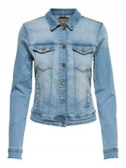 ONLY NOS Damen Onltia DNM Jacket Bb Lb Bex179 Noos Jeansjacke, Blau (Light Blue Denim Light Blue Denim), (Herstellergröße:38.0) von ONLY