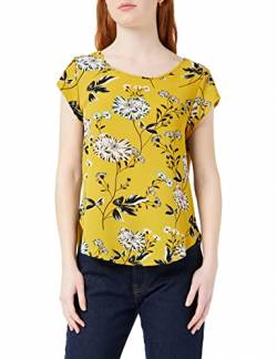 ONLY Damen Onlvic Ss AOP Noos WVN Top, Mehrfarbig (Chai Tea Aop: Yellow Flower), 36 von ONLY