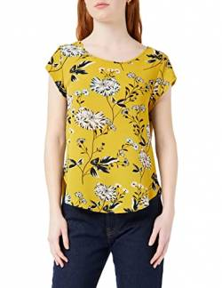 ONLY Damen Onlvic Ss AOP Noos WVN Top, Mehrfarbig (Chai Tea Aop: Yellow Flower), 34 von ONLY