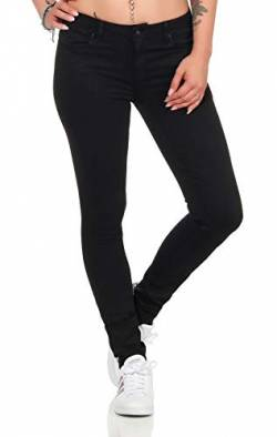 ONLY NOS Damen Skinny Jeans Onlcarmen Reg SK BLACK4EVER SOO1796 Noos, Schwarz (Black Denim), W25/L30 von ONLY