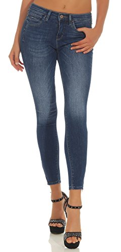 ONLY Damen Onlkendell Reg Ank Jns Cre178067 Noos Skinny Jeans, Blau (Medium Blue Denim), 25W 30L EU von ONLY