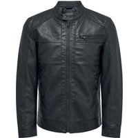 ONLY and SONS AL Jacket  Kunstlederjacke  schwarz von ONLY and SONS