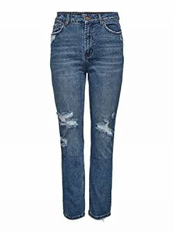 ONLY Damen ONLEMILY HW ST Crop AN Dest MAE1921 NOOS Jeans, Medium Blue Denim, 26/32 von ONLY