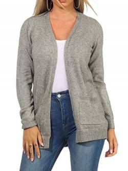 ONLY Female Strickjacke Open XLMedium Grey Melange von ONLY