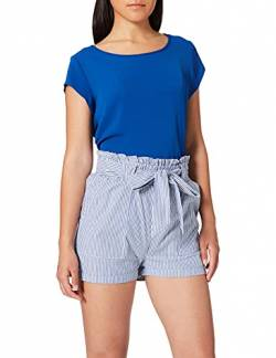 ONLY Damen Onlsmilla Stripe Belt Dnm Noos Shorts, Mehrfarbig (Medium Blue Denim Stripes: W/Stripes), S EU von ONLY