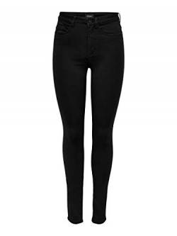 ONLY Damen Jeanshose Onlroyal High Sk Jeans Pim600 Noos ,Schwarz (Black) ,32/M von ONLY