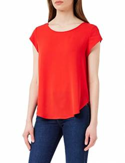 ONLY Damen T-Shirt Onlvic S/S Solid Top Noos Wvn , Rot (High Risk Red High Risk Red) , 36 von ONLY