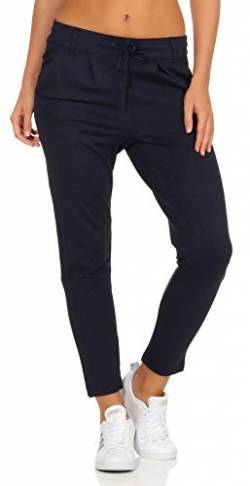 ONLY Damen onlPOPTRASH EASY COLOUR PANT PNT NOOS Hose, Blau (Night Sky), 40/L32 (Herstellergröße: L) von ONLY