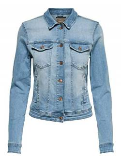 ONLY NOS Damen Onltia DNM Jacket Bb Lb Bex179 Noos Jeansjacke, Blau (Light Blue Denim Light Blue Denim), (Herstellergröße:44.0) von ONLY