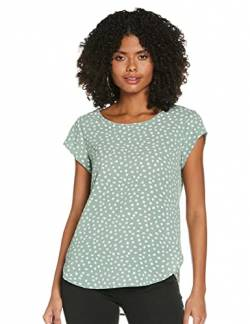 ONLY Womens ONLVIC SS AOP TOP NOOS WVN T-Shirt, AOP:Big KARO DOT Chinois Green, 34 von ONLY