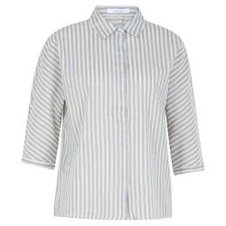Opus Damen Frona Stripe Bluse, Light Breeze, 40 von Opus