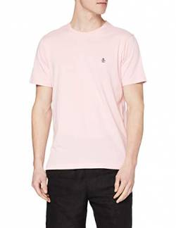 ORIGINAL PENGUIN Herren PIN Point Embroidered Tee Geprägtes Logo-T-Shirt, 673 Parfait Rosa, L von ORIGINAL PENGUIN
