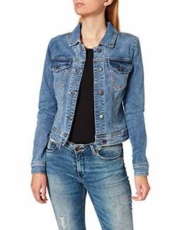 Object Damen Objwin New Jacket Noos Jeansjacke, Blau (Medium Blue Denim Medium Blue Denim), (Herstellergröße: 36) von Object