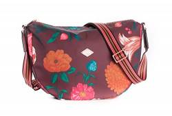 Oilily Winter Bouquet Shoulder Bag Burgundy Blaze von Oilily
