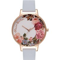 Olivia Burton Moulded Bee Moulded Bee Rose Gold & Chalk Blue Damenuhr in Blau OB16ER06 von Olivia Burton