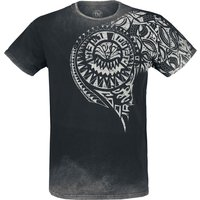 Outer Vision Burned Tattoo  T-Shirt  grau von Outer Vision