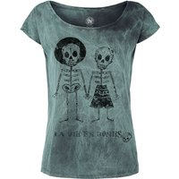 Outer Vision Skeleton Lovers  T-Shirt  türkis von Outer Vision