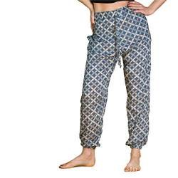 PANASIAM CM2 Relaxed Pants Geometric Style 07_Shippo Blue M von PANASIAM
