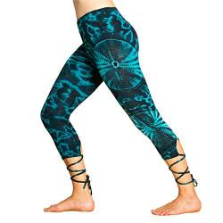 PANASIAM lace-up Legging 3/4 Batik CS03 Blue von PANASIAM