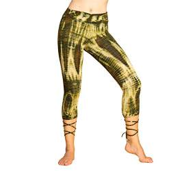PANASIAM lace-up Legging 3/4 Batik CT01 Olive von PANASIAM