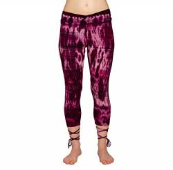 PANASIAM lace-up Legging 3/4 Batik CT02 Purple von PANASIAM