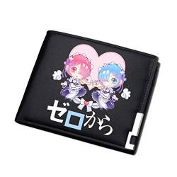 Anime Geldbörse Life in a Different World from Zero PU-Leder Brieftasche Geldklammer Wallet Kreditkarten etui Geldclip von PAPLIU