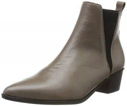 PIECES Damen PSHARA Leather Boot Stiefeletten, Braun (Toasted Coconut Toasted Coconut), 39 EU von PIECES