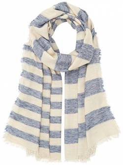 PIECES Damen Umschlagtuch Pcmay Long Scarf, Mehrfarbig (Whitecap Gray Whitecap Gray), One size von PIECES