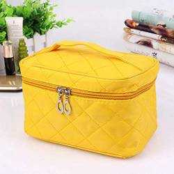 Cosmetic Bag Cosmetic Case-Rose Red Reisetasche Tasche (Color : Yellow) von PLBB3K