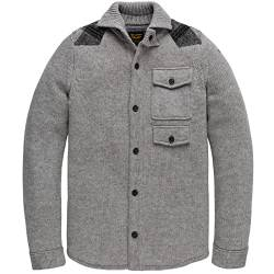 PME Legend Button Jacket Wool Mix Knit, grün(lightgreymelee (921)), Gr. XL von PME Legend