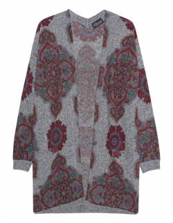 Deco Print Cardigan Grey von PRINCESS GOES HOLLYWOOD