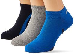 PUMA Unisex-Adult Lifestyle Sneaker-Trainer (3 Pack) Socks, Navy/Grey/Strong Blue, 35/38 von PUMA