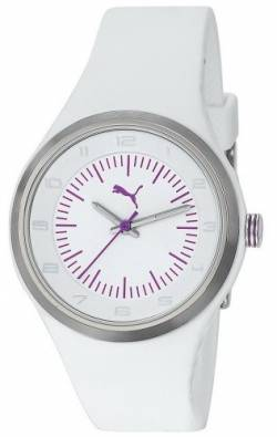 Puma Time Damen-Armbanduhr Spot White Purple Analog Quarz Plastik PU102642001 von PUMA