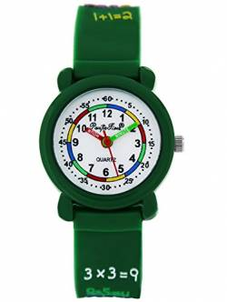 Pacific Time Kinderuhr analog Quarz mit Silikonarmband 86374 von Pacific Time