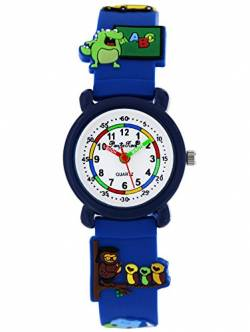 Pacific Time Kinderuhr analog Quarz mit Silikonarmband 86282 von Pacific Time