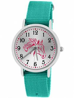 Pacific Time Kinderuhr Analog Quarz mit Textilarmband 86529 von Pacific Time