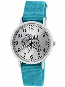 Pacific Time Kinder Uhr analog Quarz mit Textilarmband 10408 von Pacific Time