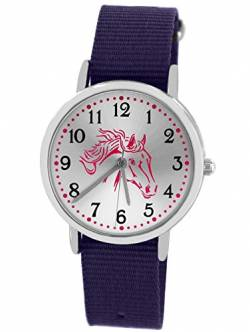 Pacific Time Kinderuhr Analog Quarz mit Textilarmband 86527 von Pacific Time