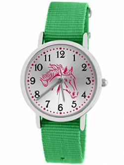 Pacific Time Kinderuhr Analog Quarz mit Textilarmband 86530 von Pacific Time