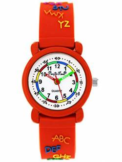 Pacific Time Kinderuhr analog Quarz mit Silikonarmband 86296 von Pacific Time