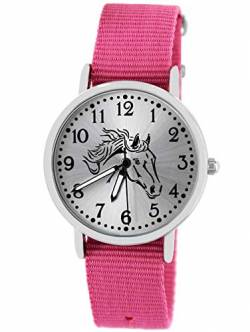 Pacific Time Kinder Uhr analog Quarz mit Textilarmband 10401 von Pacific Time