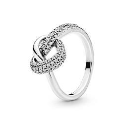 Pandora Ring Knotted Heart Silver Ring with Size 54 von Pandora