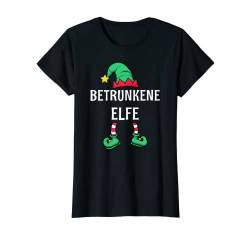 Damen Betrunkene Elfe Partnerlook Outfit Frauen Weihnachten T-Shirt von Partnerlook Weihnachten Familien Outfits by KaMi