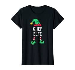 Damen Chef Elfe Partnerlook Familien Outfit Frauen Weihnachten T-Shirt von Partnerlook Weihnachten Familien Outfits by KaMi