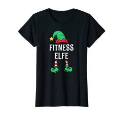 Damen Fitness Elfe Partnerlook Familien Outfit Frauen Weihnachten T-Shirt von Partnerlook Weihnachten Familien Outfits by KaMi
