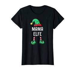 Damen Mama Elfe Partnerlook Familien Outfit Frauen Weihnachten T-Shirt von Partnerlook Weihnachten Familien Outfits by KaMi