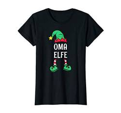 Damen Oma Elfe Partnerlook Familien Outfit Frauen Weihnachten T-Shirt von Partnerlook Weihnachten Familien Outfits by KaMi