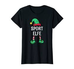 Damen Sport Elfe Partnerlook Familien Outfit Frauen Weihnachten T-Shirt von Partnerlook Weihnachten Familien Outfits by KaMi