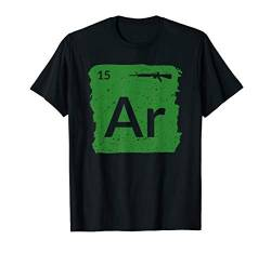 AR15 Gewehr Periodic Table Patriotic Für Veteran T-Shirt von Patriotic Apparel by BUBL TEES